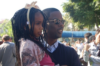 Chris Rock with daughter